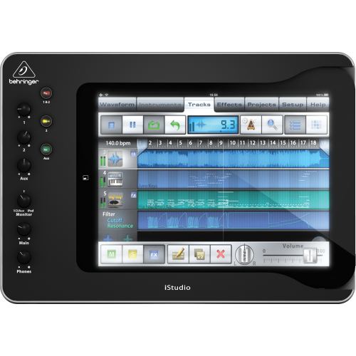 IS202 Istudio  Ipad DOCKING PROFESIONAL CON CONECTIVIDAD MIDI, AUDIO Y VIDEO
