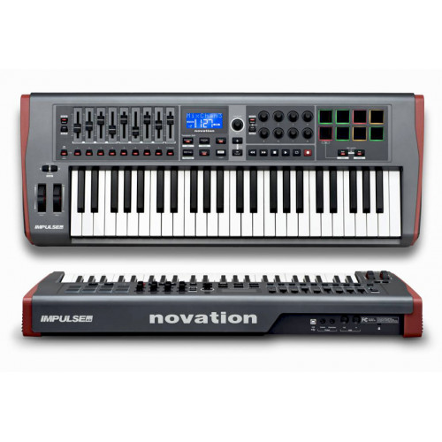 IMPULSE 49  CONTROLADOR MIDI USB 4 OCTAVAS, AUTOMAP 4   NOVATION