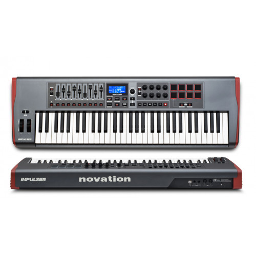 IMPULSE 61  CONTROLADOR MIDI USB 5 OCTAVAS, AUTOMAP 4   NOVATION