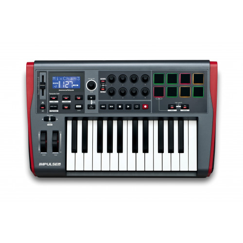 IMPULSE 25  CONTROLADOR MIDI USB 25 TECLAS, AUTOMAP 4   NOVATION
