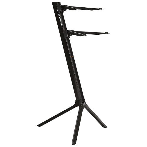 1100-02    STAY  STAND TIPO COLUMNA  PARA 2 TECLADOS COLOR NEGRO   STAY