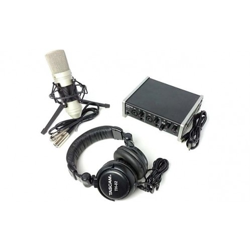 TRACKPACK 2X2   RECORDING PACK  SET DE INTERFASE, MICROFONO Y AUDIFONOS   TASCAM