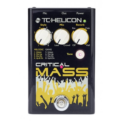 CRITICAL MASS  CHOIR, REVERB & TONE  PROCESADOR PARA VOCES   TC HELICON