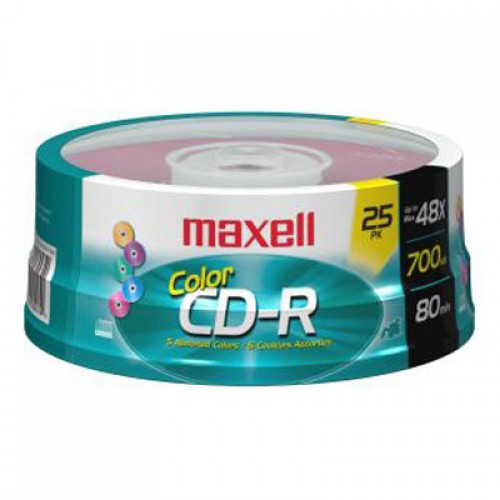 CD-R 700 COLOR 48X 25PK SPINDLE