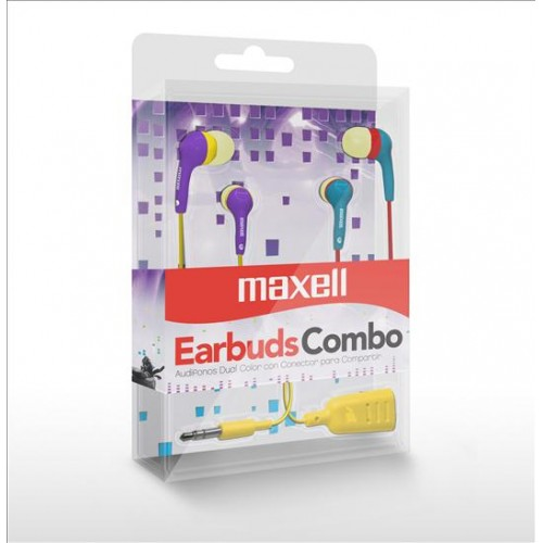 CEC-6 COLOR EARBUD AUDIFONO COMBO 6 BLUE/PURPLE