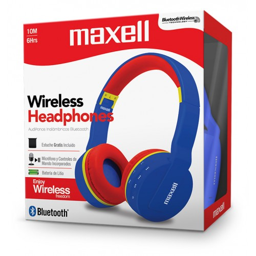 MXH-BT800 BLUETOOTH HEADPHONE WITH MIC RD/BL/YE