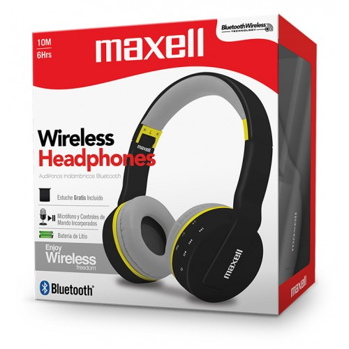 MXH-BT800 BLUETOOTH HEADPHONE WITH MIC BLK/GRA/YL