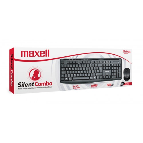 WKCB-300 WIRELESS SILENT KEYBOARD & MOUSE COMBO